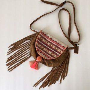 Zara Festival Boho Suede mini purse